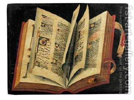 An Open Missal by Ecole Francaise, Xixeme Siecle - Reproduction Oil Painting