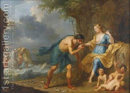 Neptune Et Amphitrite by Balthasar Beschey - Reproduction Oil Painting
