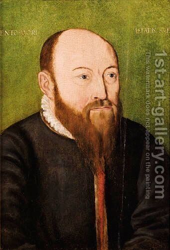 Portrait Of A Bearded Man by (after) Corneille De Lyon - Reproduction Oil Painting