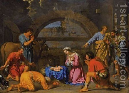 L'Adoration Des Bergers by Charles Alphonse Dufresnoy - Reproduction Oil Painting
