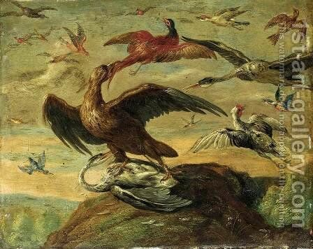 Birds by I Jan Van - Reproduction Oil Painting