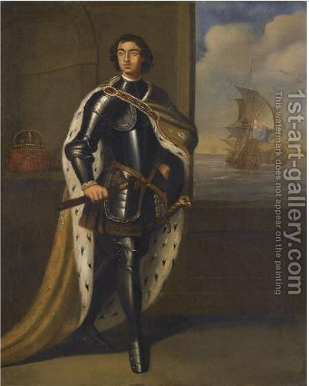 Portrait Of Tsar Peter The Great by (after) Kneller, Sir Godfrey - Reproduction Oil Painting