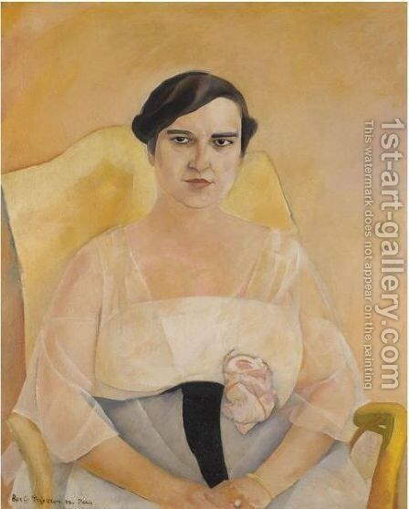 Portrait Of A Lady 2 by Boris Dmitrievich Grigoriev - Reproduction Oil Painting
