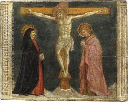 Crocefissione by (after) Masaccio (Tommaso Di Giovanni) - Reproduction Oil Painting