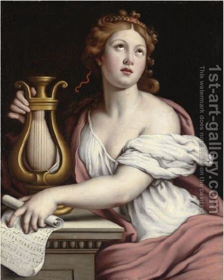 Santa Cecilia by Giovanni Battista Salvi, Il Sassoferrato - Reproduction Oil Painting