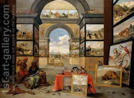The Continent Of Africa by I Jan Van - Reproduction Oil Painting