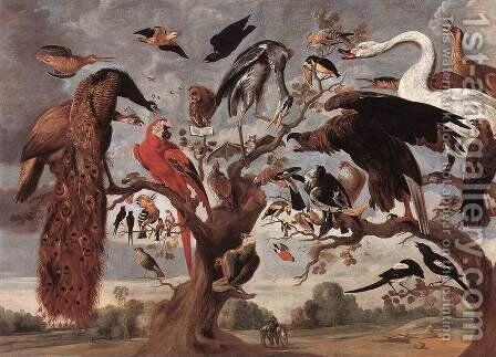 The Mockery Of The Owl by I Jan Van - Reproduction Oil Painting