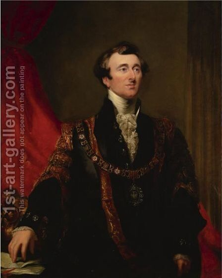 Portrait Of John Jonson, Lord Mayor Of London In 1845 by Sir George Hayter - Reproduction Oil Painting