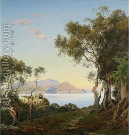 Italianate Landscape 2 by Janus Andreas Bartholin La Cour - Reproduction Oil Painting