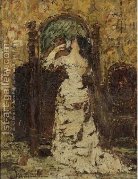 Preparing For The Soiree by Adolphe Joseph Thomas Monticelli - Reproduction Oil Painting