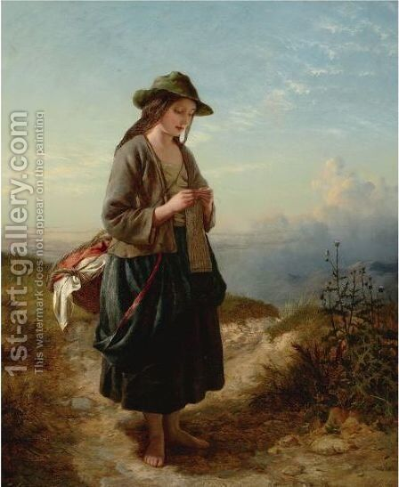 The Crofter's Daughter by Edward John Cobbett - Reproduction Oil Painting