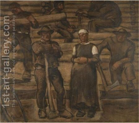 Study For The Figure by Albin Egger-Lienz - Reproduction Oil Painting