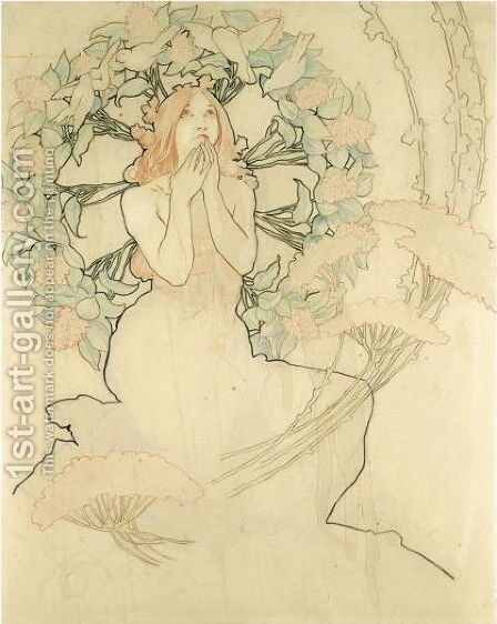 Study For Monte Carlo by Alphonse Maria Mucha - Reproduction Oil Painting