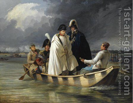 Napoleon Leaving The Lobau After The Defeat At The Battle Of Aspern by Anton Ritter Von Perger - Reproduction Oil Painting