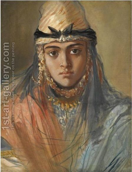 Tete De Jeune Algerienne Juive by Theodore Chasseriau - Reproduction Oil Painting