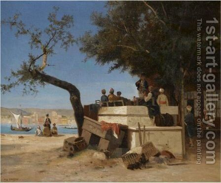 Cafe Oriental by Charles Théodore Frère - Reproduction Oil Painting