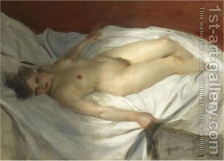Uppvaknande (The Awakening) by Anders Zorn - Reproduction Oil Painting