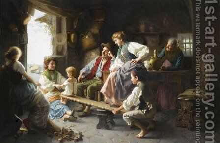 The See-Saw by Giovanni Battista Torriglia - Reproduction Oil Painting