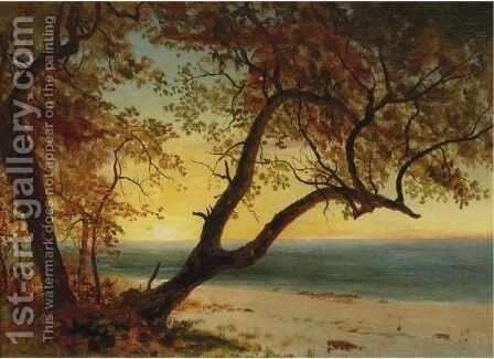 Landscape In The Bahamas by Albert Bierstadt - Reproduction Oil Painting