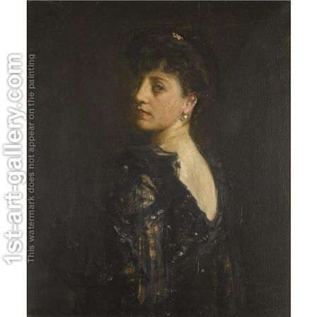 Portrait Of Lady Young by Sir John Lavery - Reproduction Oil Painting