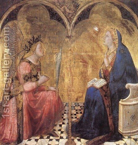Annunciation by Ambrogio Lorenzetti - Reproduction Oil Painting