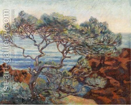 Les Rochers Rouges A 'Agay by Armand Guillaumin - Reproduction Oil Painting