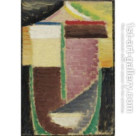 Abstrakter Kopf (Abstract Head) 3 by Alexei Jawlensky - Reproduction Oil Painting