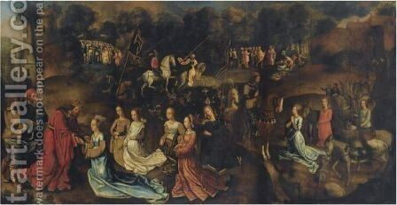 The Story Of David And Abigail by (after) Goes, Hugo van der - Reproduction Oil Painting
