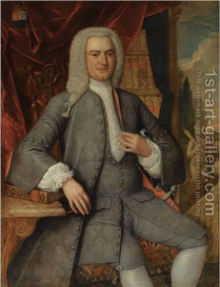 Portrait Of Hubertus Snoeck (1703-1773) by Harmen Serin - Reproduction Oil Painting
