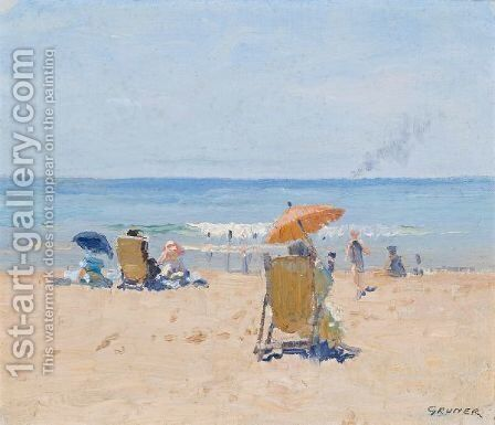 Tamarama Beach by Elioth Gruner - Reproduction Oil Painting