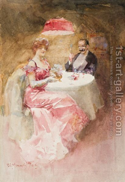 The Dinner Date by B. E. Minns - Reproduction Oil Painting