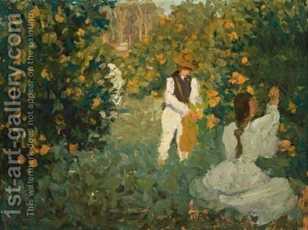 The Orange Pickers by Emanuel Phillips Fox - Reproduction Oil Painting