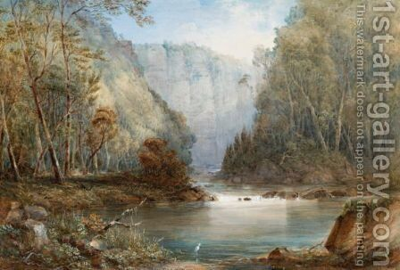 Norton's Basin, Neapean River by Conrad Martens - Reproduction Oil Painting