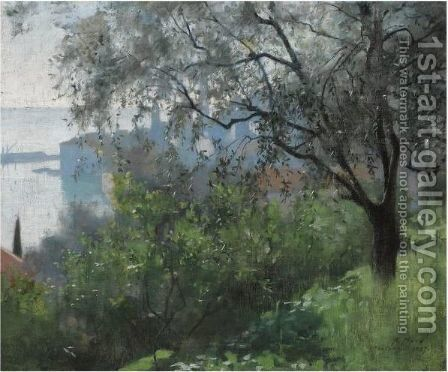Mentone by Alexander Mann - Reproduction Oil Painting