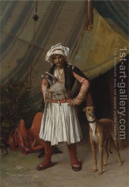 A Bashi-Bazouk And His Dog by Jean-Léon Gérôme - Reproduction Oil Painting