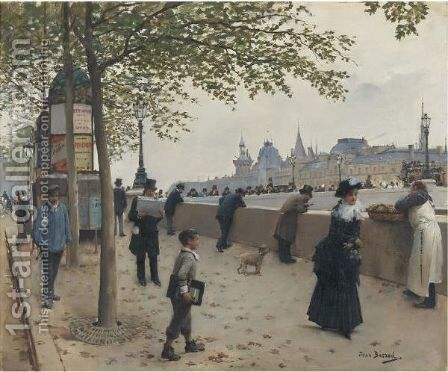 Le Pont Neuf by Jean-Georges Beraud - Reproduction Oil Painting