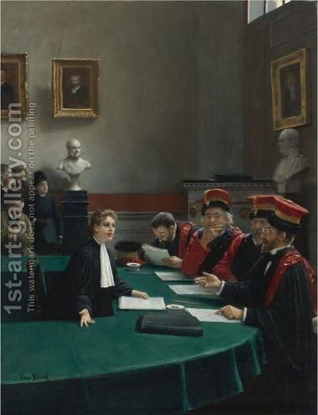 The Doctoral Jury by Jean-Georges Beraud - Reproduction Oil Painting