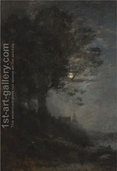 Lisiere De Bois by Jean-Baptiste-Camille Corot - Reproduction Oil Painting