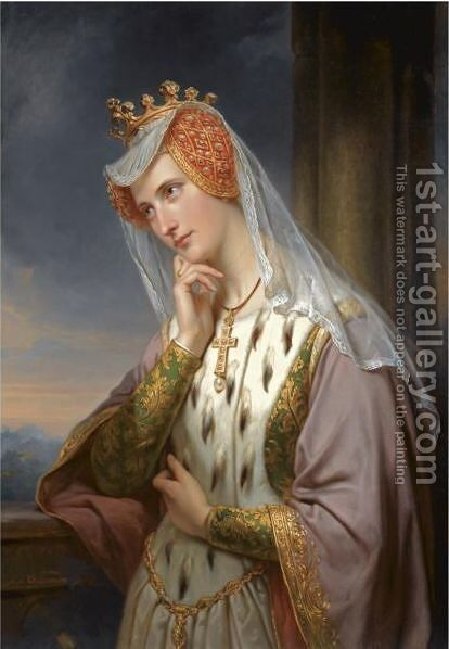 A Portrait Of A Noble Lady by Jan Adam Janszoon Kruseman - Reproduction Oil Painting
