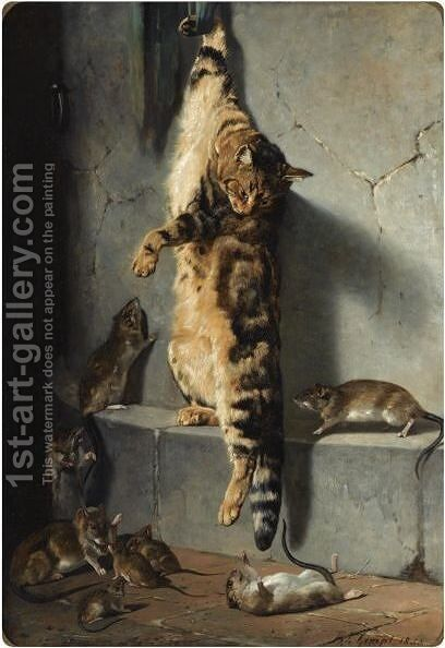A Good Catch by Bernard te Gempt - Reproduction Oil Painting