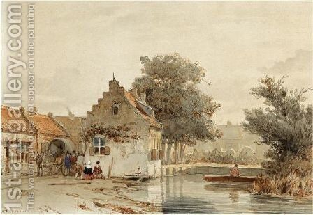 Market Day In Boxtel by Jan Weissenbruch - Reproduction Oil Painting