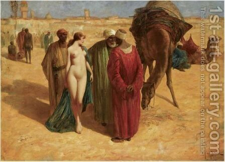Fair Trade by Eduard Hoffmann - Reproduction Oil Painting
