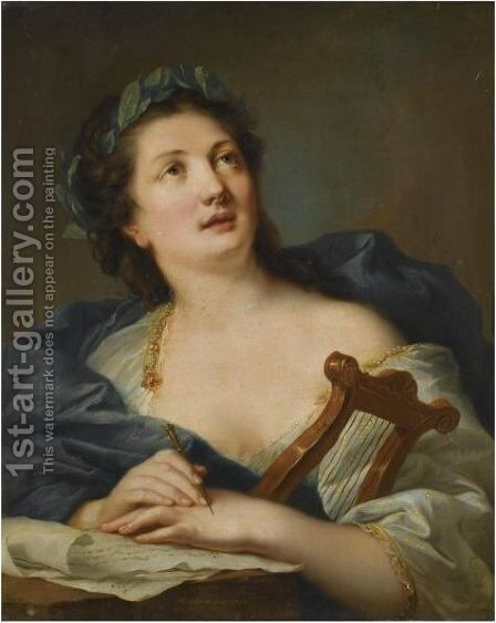 A Muse by Johann Heinrich Wilhelm Tischbein - Reproduction Oil Painting