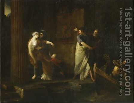 The Farewell Of Brutus And Portia by Antoine Dubost - Reproduction Oil Painting
