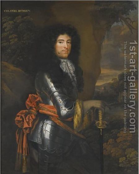 Portrait Of Colonel John Rumsey (Fl.1660-1686) by Jacob Huysmans - Reproduction Oil Painting
