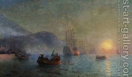 Columbus Sailing From Palos by Ivan Konstantinovich Aivazovsky - Reproduction Oil Painting