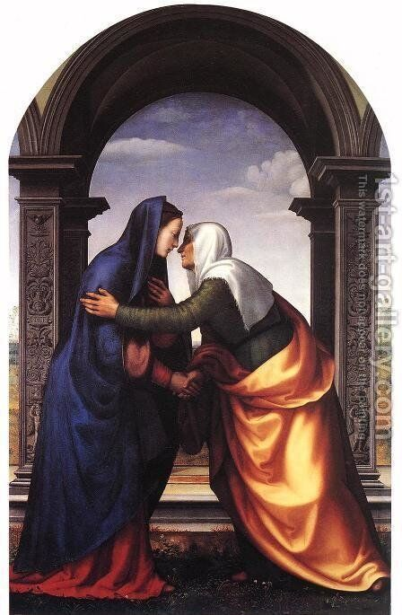 Visitation by Mariotto Albertinelli - Reproduction Oil Painting
