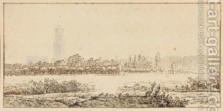 Landscape With The City Of Utrecht In The Distance by Ecole Hollandaise - Reproduction Oil Painting