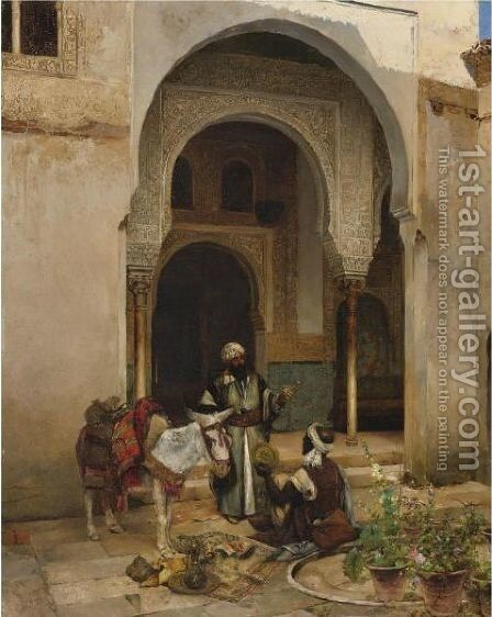 The Antique Seller by Clement Pujol de Gustavino - Reproduction Oil Painting
