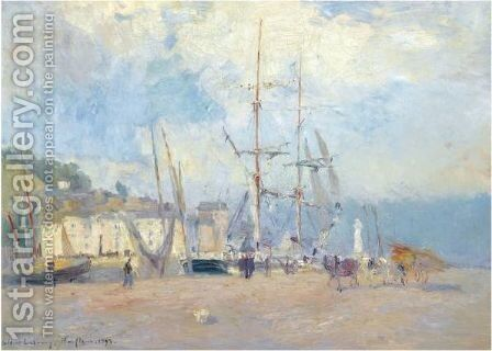 Sur Le Port A Honfleur by Albert Lebourg - Reproduction Oil Painting